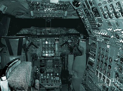 Photograph - Concorde Cockpit by Barry Lamont