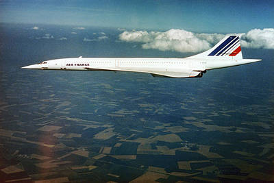 Airliners Photograph - Concorde In Flight by Us National Archives