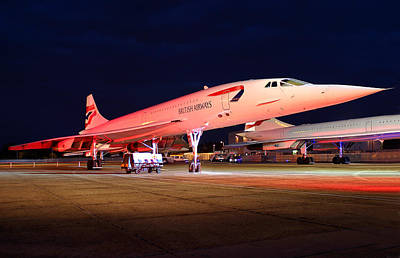Whimsically Poetic Photographs Rights Managed Images - Concorde on Stand Royalty-Free Image by Andy Myatt