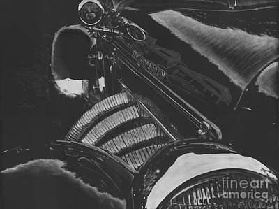 Concours At Dusk 1935 Auburn Speedster Original by Matthew Jarrett
