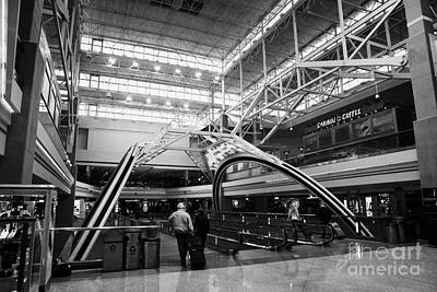 Airport Concourse Photograph - concourse B at Denver International Airport Colorado USA by Joe Fox