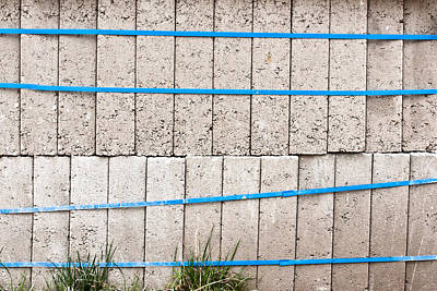 Brick Building Photograph - Concrete Blocks by Tom Gowanlock