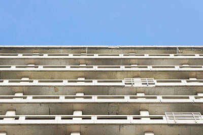 60s Photograph - Concrete Building by Tom Gowanlock