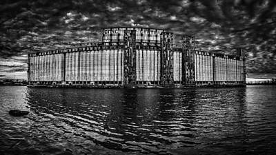 Photograph - Concrete Central N1 - Bw by Chris Bordeleau