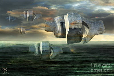 Concrete Clouds Chillida Art Print