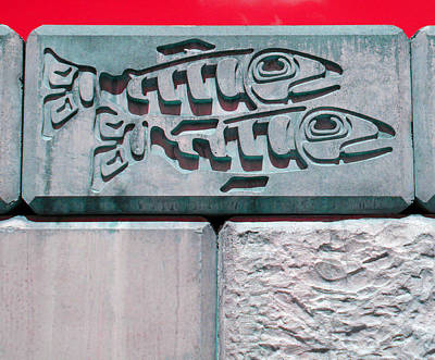 Photograph - Concrete Fish by Laurie Tsemak