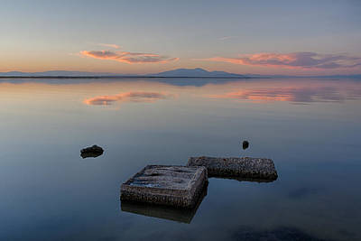 Photograph - Concrete Floats by Peter Tellone