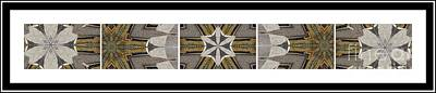 Pentaptych Photograph - Concrete Flowers - Kaleidoscope - Pentaptych by Barbara Griffin