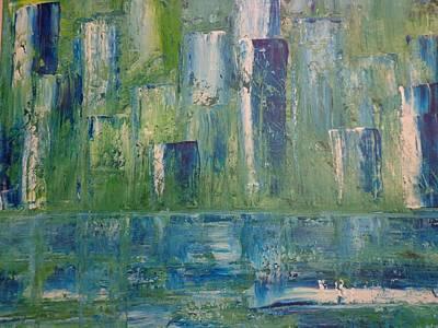 Yellow Painting - Concrete Jungle   by Soraya Silvestri