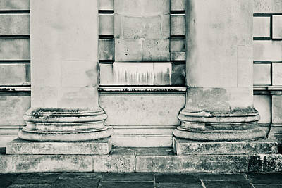 Concrete Pillars Art Print by Tom Gowanlock