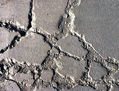 Photograph - Concrete Slab by Robert D McBain