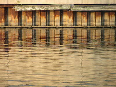 Photograph - Concrete Wall And Water 3 by Anita Burgermeister