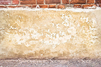 Brick Building Photograph - Concrete Wall by Tom Gowanlock