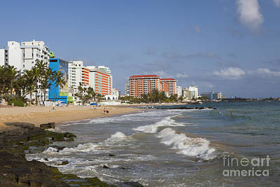 Condado Beach San Juan Puerto Rico Art Print