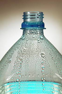 Condensation On Water Bottle Art Print by Mark Sykes
