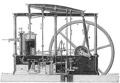 Steam Turbine Wall Art - Photograph - Condenser Steam Engine, 19th Century by Science Source