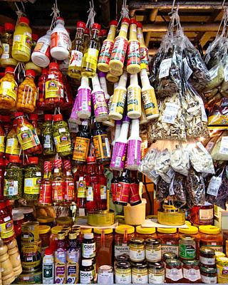 Photograph - Condiments At Mercade Municipal by Julie Niemela