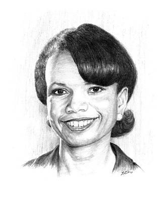 Condolezza Rice Art Print