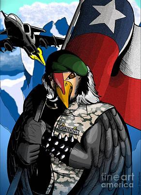 Condor Digital Art - Condor Chile by Road Shadow