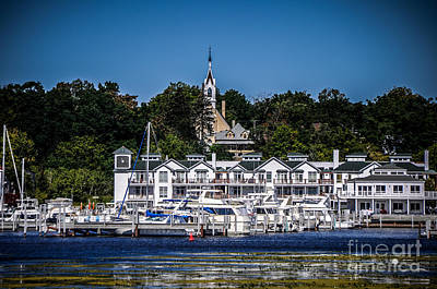 Photograph - Condos Docks And Church by Ronald Grogan
