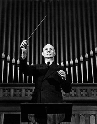 Photograph - Conductor Hagbard Brase by Underwood Archives