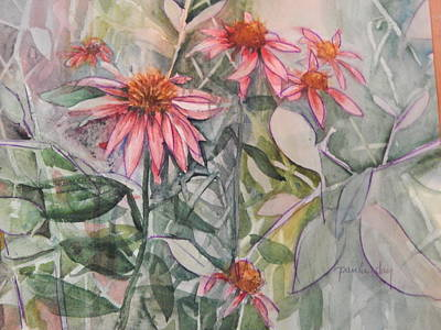 Painting - Cone Flowers by Paula Day