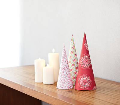 Photograph - Cone Shape Christmas Decoration by Ulrich Schade