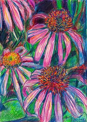 Coneflower Twirl Art Print by Kendall Kessler
