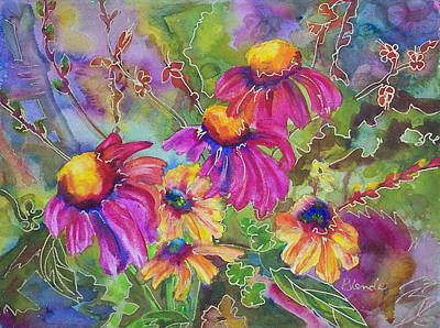 Coneflowers Painting - Coneflowers And Co  by Blenda Studio