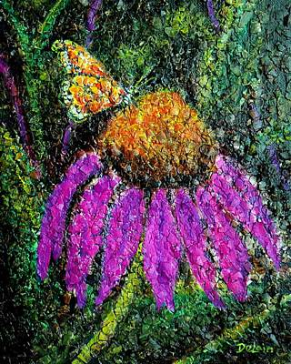 Painting - Coneflowers Rule by Susan DeLain