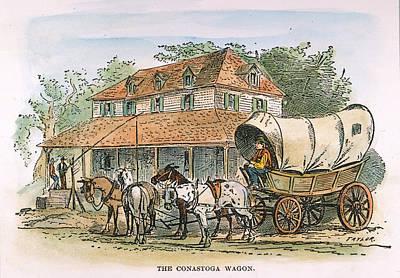 Conestoga Wagon, 19th C Art Print by Granger