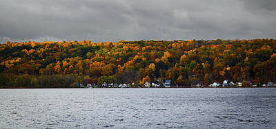 Conesus Lake Autumn Art Print by Richard Engelbrecht