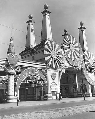 Coney Island - Luna Park Entrance Art Print by MMG Archives