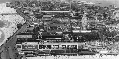 B Photograph - Coney Island - Wide Aerial View by MMG Archives