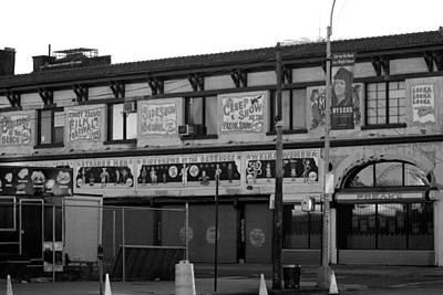 Coney Island Art In Black And White Art Print