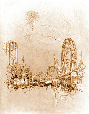 Roller Coaster Photograph - Coney Island Balloon Ride 1904 by Padre Art