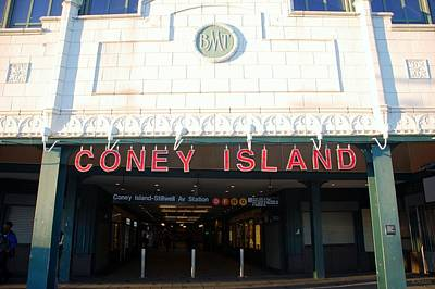 Photograph - Coney Island Bmt Subway Station by Rob Hans