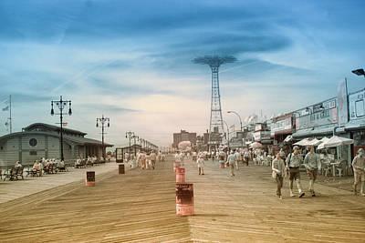 Photograph - Coney Island Boardwalk Ir by Dave Beckerman