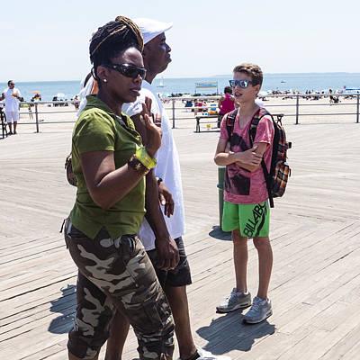 Photograph - Coney Island Boardwalk July 2014 by Frank Winters
