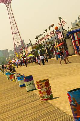 Photograph - Coney Island Boardwalk by Theodore Jones