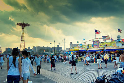 Coney Island Brooklyn New York City Art Print by Sabine Jacobs