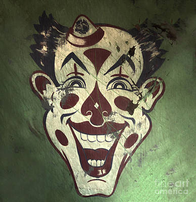 Photograph - Coney Island Clown by Gregory Dyer