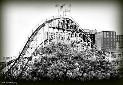 Photograph - Coney Island Cyclone 2 by Debra Forand