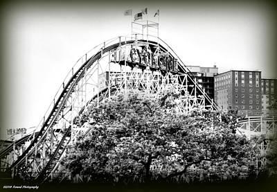 Rollercoaster Photograph - Coney Island Cyclone 2 by Debra Forand