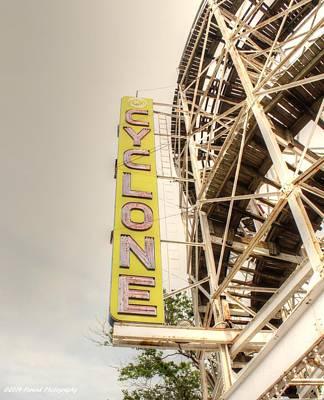 Cyclone Rollercoaster Photograph - Coney Island Cyclone  by Debra Forand