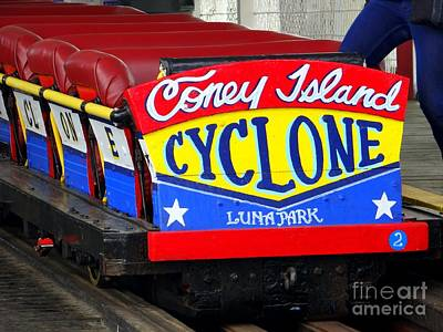 Photograph - Coney Island Cyclone by Ed Weidman