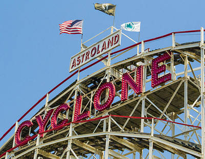 Photograph - Coney Island Cyclone by Theodore Jones