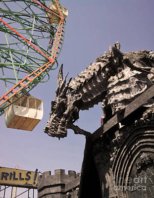 Photograph - Coney Island Dragon by Gregory Dyer