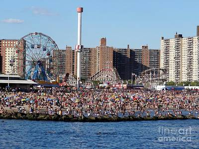 Art Print featuring the photograph Coney Island by Ed Weidman