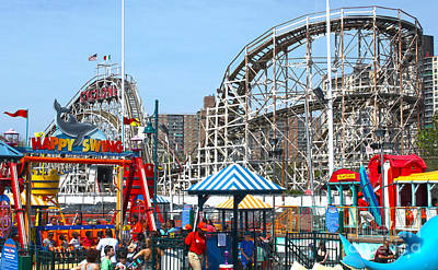 Photograph - Coney Island Luna Park by Gregory Dyer